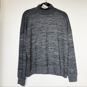 NWT Philosophy Black/Grey Mock Neck Sweater
